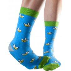Doris & Dude Womens Blue Bee Bamboo Socks - Size 3-7