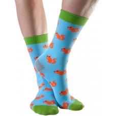 Doris & Dude Womens Blue Squirrel Bamboo Socks - Size 3-7