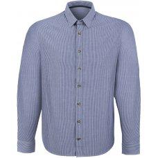 Organic Cotton Casual Long Sleeve Shirt - Blue Stripe