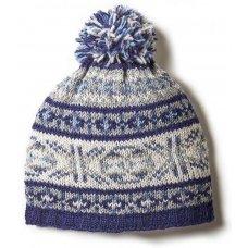 Mens Stornoway Bobble Beanie - Blue