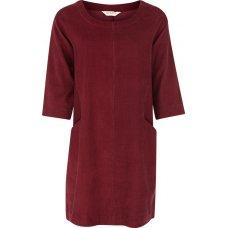 Nomads Needlecord Tunic Dress - Cranberry