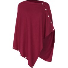 Nomads Knitted Poncho - Magenta