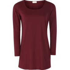 Nomads Organic Cotton Long Sleeve Top - Cranberry