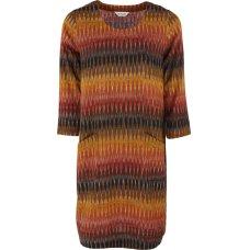 Nomads Handloom Cotton Ikat Tunic Dress - Cinnamon