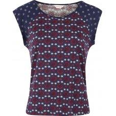 Nomads Organic Cotton Twilight Sleevless Pyjama Top - Indigo