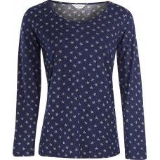 Nomads Organic Cotton Stella Long Sleeved Pyjama Top - Indigo