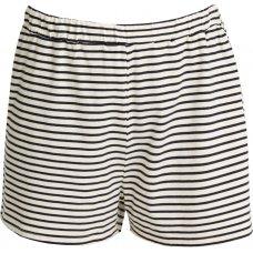 People Tree Organic Pyjama Shorts - Navy Stripe