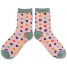 Powder Bamboo Spot Ankle Socks