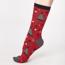 Thought Merry Christmas Tree Bamboo Socks