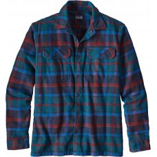 Patagonia Mens Buckstop Plaid Fjord Flannel Shirt - Big Sur Blue