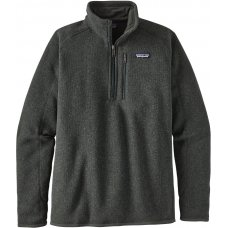 Patagonia Mens Better Sweater 1/4 Zip Jacket - Carbon Green