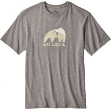 Patagonia Eat Local Upstream Cotton T-Shirt - Gravel Heather