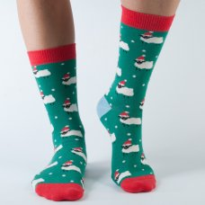 Doris & Dude Womens Christmas Sheep Bamboo Socks
