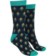 Mudd & Water Bamboo Geo Bud Ivy Socks