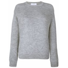 Ally Bee British Alpaca Blend Chunky Crew Neck Jumper - Grey