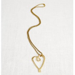 La Jewellery Recycled Brass Love Necklace
