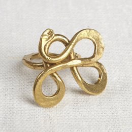 La Jewellery Recycled Brass Serpentine Ring