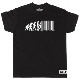 All Riot Evolution Barcode Political T-Shirt