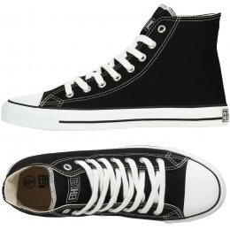 Ethletic Fairtrade Hi Top Trainers - Black & White