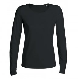 Womens Organic Cotton Scoop Neck Long Sleeve T-shirt