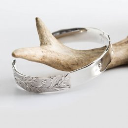 Mosami Be the Change You Want To See Fairtrade Silver Cuff