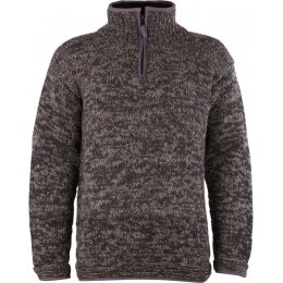 Mens Donegal Half Zip Jumper - Charcoal