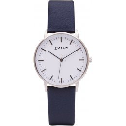 Votch New Collection Vegan Leather Watch - Silver