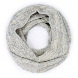 Ally Bee British Alpaca Blend Snood - Grey & Cream Marl