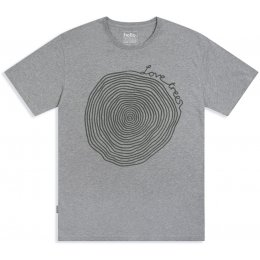 Silverstick Mens Love Trees T-Shirt - Ash Marl