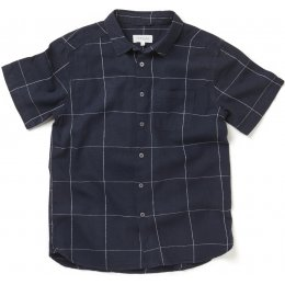 Thought Mens Hemp Yarn Dye Check Curtis Shirt
