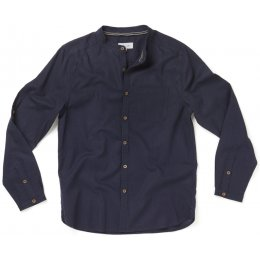 Thought Mens Avro Grandpa Shirt - Navy