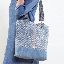 Nomads Chambray Handloom Cotton Shopper
