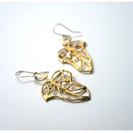LA Jewellery Petite Ivy Recycled Brass Earrings
