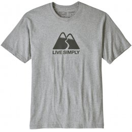 Patagonia Mens Live Simply Winding Responsibili-Tee - Drifter Grey