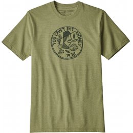 Patagonia Mens Cant Eat Money Responsibili-Tee - Crag Green