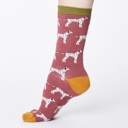 Thought Womens Bamboo Dalmation Socks - Rose Pink