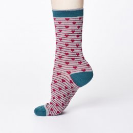 Thought Womens Bamboo Herbert Socks - Mid Grey