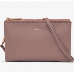 Matt & Nat Triplet Vegan Crossbody Bag - Mahogany