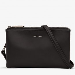 Matt & Nat Triplet Vegan Crossbody Bag - Black