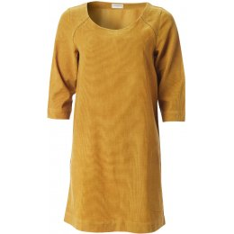 Nomads Three Quarter Sleeve Tunic Dress - Caramel