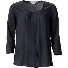 Nomads Pin Tuck Top - Coal