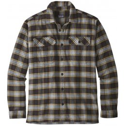 Patagonia Mens Migration Plaid Fjord Shirt - Black
