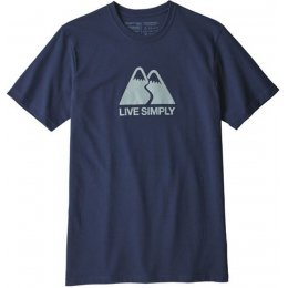 Patagonia Live Simply Winding Responsibili-Tee - Classic Navy