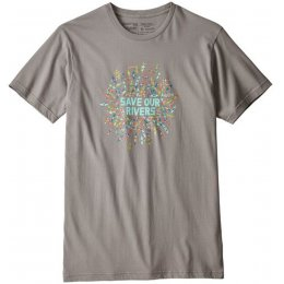 Patagonia Save Our Rivers Organic T-Shirt - Gravel Heather