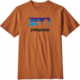 Patagonia Shop Sticker T-Shirt - Marigold