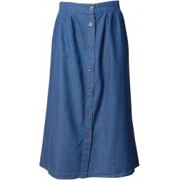 Bibico Greta Button Through Denim Skirt
