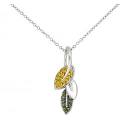 Kashka London Spring in my step Silver Plated Necklace