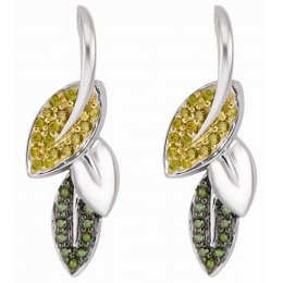 Kashka London Spring in My Step Silver Plated Earrings