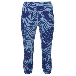 Mudd & Water Blue Palm Print Cropped Island Leggings