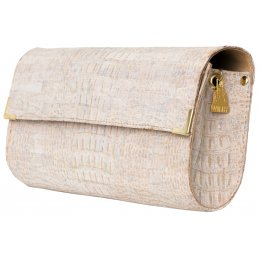 Wilby Vroc Long White Croc Clutch